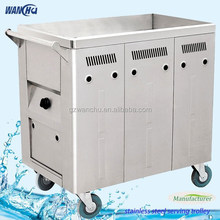 Electrtic Mobile Food Warmer Stainless Steel Buffet Bain Marie Cooking Equipment Trolley/Hospital Food Warmer Cart Manufacturer
