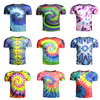 100% polyester O-Neck tie dye t shirt wholesale fashion design your own custom tie dye t shirts