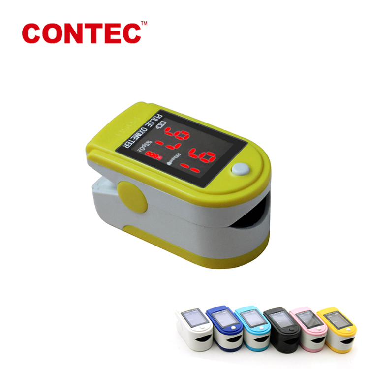 Contec high quality oxygen saturation meter pulse oximeter cms50DL CE FDA certificate
