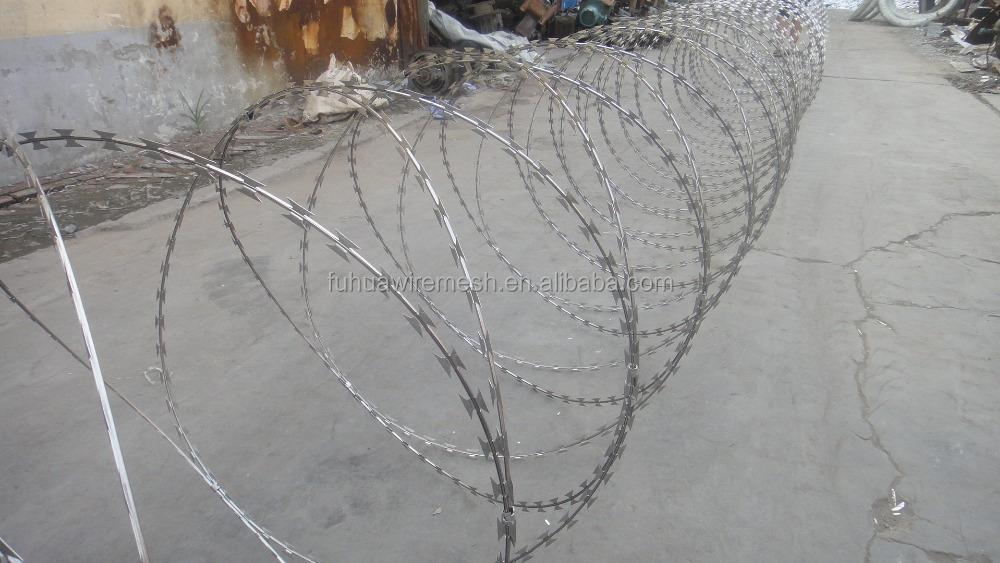 price razor barbed wire/razor barbed wire mesh fence/metal wire mesh