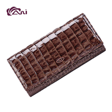 Guangzhou Fani design brown color leather clutch wallet