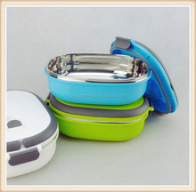 Plastic and stainless steel lunch box, bento/insulated food container