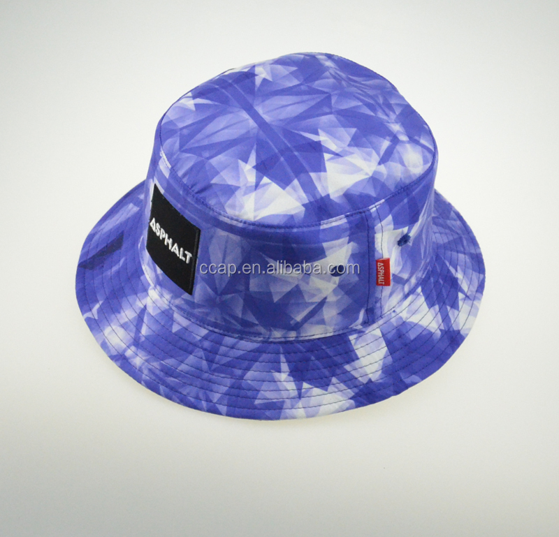 Custom Hawaliian floral printing sun protection hats