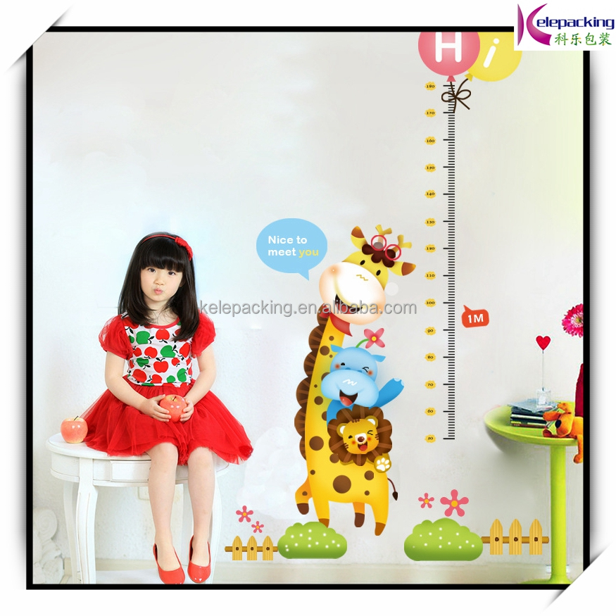 Wall sticker kids children height measurement pvc wall stickers giraffe