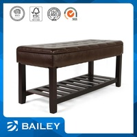 Price Cutting Furniture Manufacturer Upholstered Wooden Sofa Bench