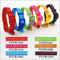 eco-frienly nylon fancy cute dog collar with high quality for girl dog and cat