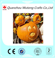 Customized Fall Harvest Halloween Pumpkin ,Wholesale Artificial Pumpkin