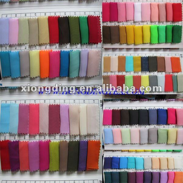 Fashion polyester bulk chiffon fabric wholesale and manufacturer