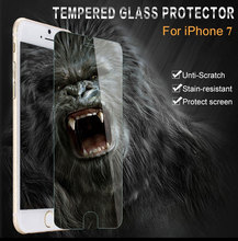 100pcs Free Shipping for iPhone 7 Plus Screen Protector Tempered Glass;9H Clear Tempered Glass for iP 7 Plus Screen Protector