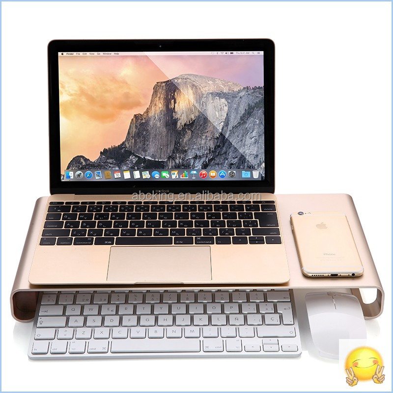 Aluminum laptop stand holder for Apple Macbook notebook computer stand Aluminum Monitor Stand with USB3.0 HUB