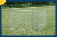 Chain Link Dog Kennel Pen Run Galvanized Fence Backyard Large Pet Cage New