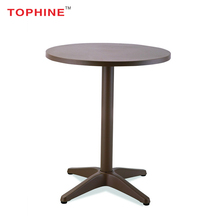 Commercial Contract TOPHINE Furniture Hot Sale High Quality Aluminum High Top Round Cocktail Bar Table