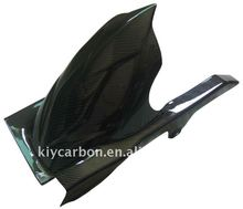 Carbon fiber rear hugger for Kawasaki motorbike