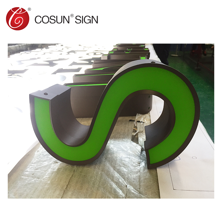 Cosun Customized led trim cap company logo sign |  led acrylic channel letter light sign