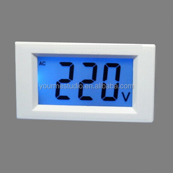 Professional Manufacturer High Quality 3 Wires 0-500V Lcd AC Digital Voltmeter For Regulator Dedicated