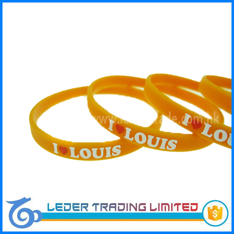 colorful small silicone rubber bands with patterns, one quarter inch custom silicone bracelets