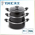 Non-stick Sauce Pot with Glass Lid and Black Color Body