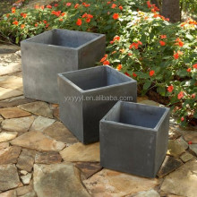 Large Square Fiberclay Low Planter - Dark Grey (Chinese Cheaper Wholesale)