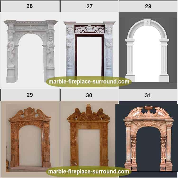 Lujo doble tallado piedra León cabeza columna marco de la puerta ...