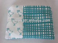 Pencil Pouch Bag ZIP COIN PURS teal bird fabric ~ make-up, cosmetic bag