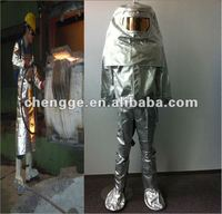 Metallurgy Aluminized fire resistant clothing