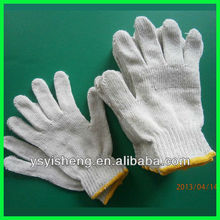 10 gauge natural white recycled cotton kitted gloves