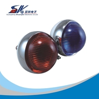 red & blue &amber motorcycle led emergency strobe light for police