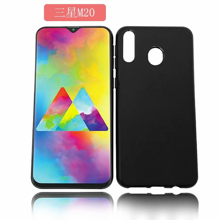 Anti Drop <strong>Microfiber</strong> Pudding TPU Case Matt Tpu phone case for Samsung Galaxy M20