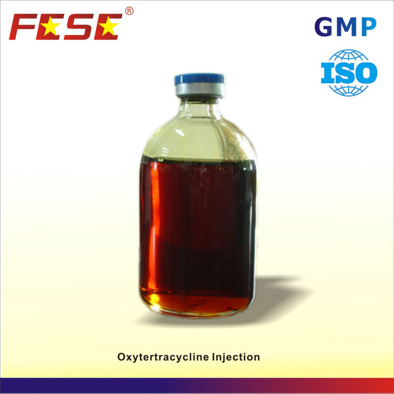 Antibiotic veterinary drug oxytetracycline 5% injections