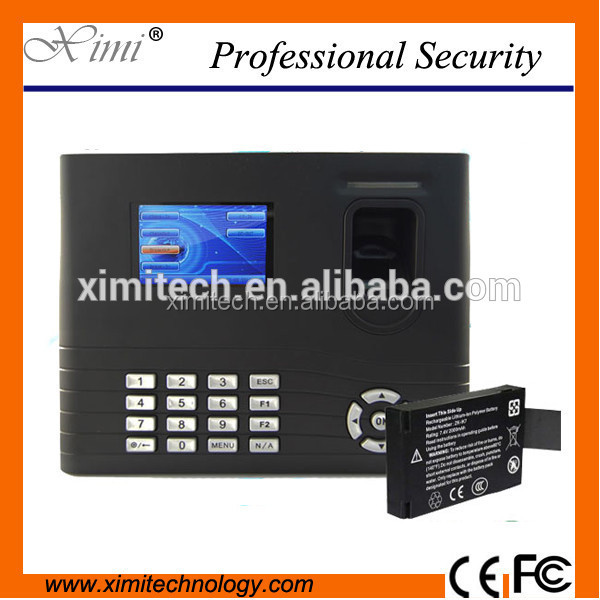 IN01 Fingerprint time attendance machine with optional WIFI ,GPRS ID/IC and TCP/IP rs232&485 communication with back up battery