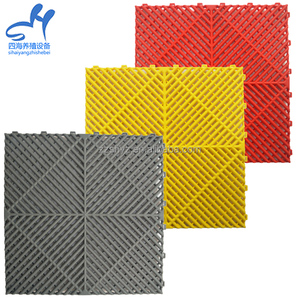 400*400*18mm anti slip interlocking plastic pvc floor garage tiles for sale