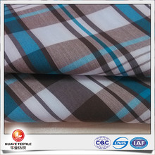 yarn dyed plaid cotton elastane stretch fabric with coolplus