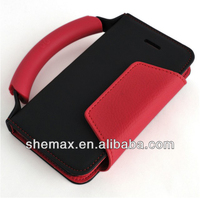 Grip Case Leather Credit Card Wallet Clutch Handbag For iphone 5 5S