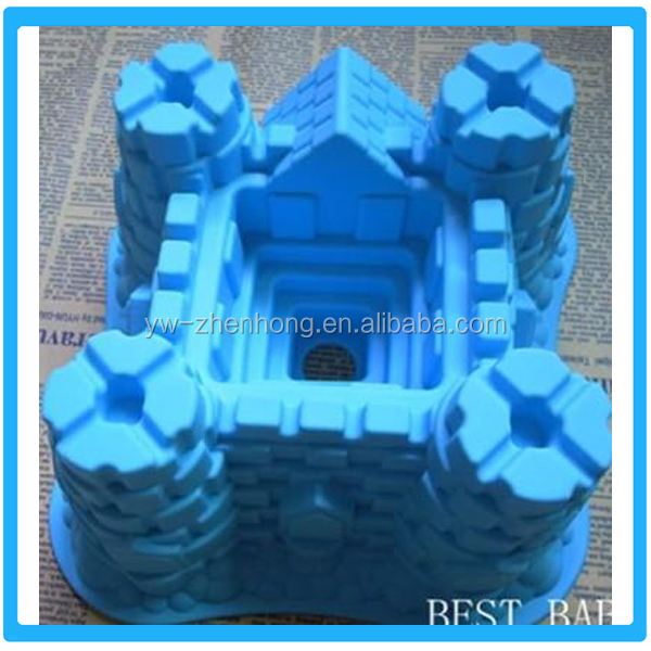 Silicone Castle Shape Soap Mold Silicone Cake Tray DIY Ice Mold