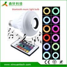 Color changing led bluetooth music bulb e27 light 3.0 music palying + RGB bluetooth smart led light bulb with 24keys Remote