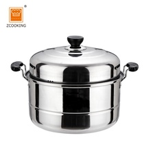 36cm Multi-function Double Layer Stainless Steel Food Steamer Pot