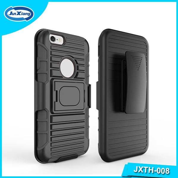 Free Sample Hybrid Kickstand Ring holster PC & TPU Case for iphone 6
