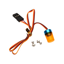 9*15mm Orange Multi-Function Circular Ultra Bright RC Car LED Lamp Rotating Light with Strobing-Blasting Flashing Fast-Slow