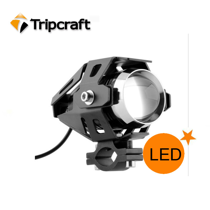 Best selling 3000LM 15W Led Motorcycle Spot Light,12v police lights led motorcycle with flashing, high & low beam function