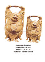 sandalwood laughing buddha-wood crafts,sandalwood buddha,laughing buddha statue