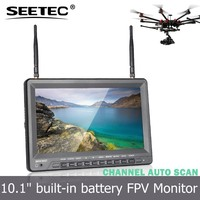 Large hd fpv monitor 10.1 inch lcd tft display 5.8ghz 32 channels big remote control helicopter for sale