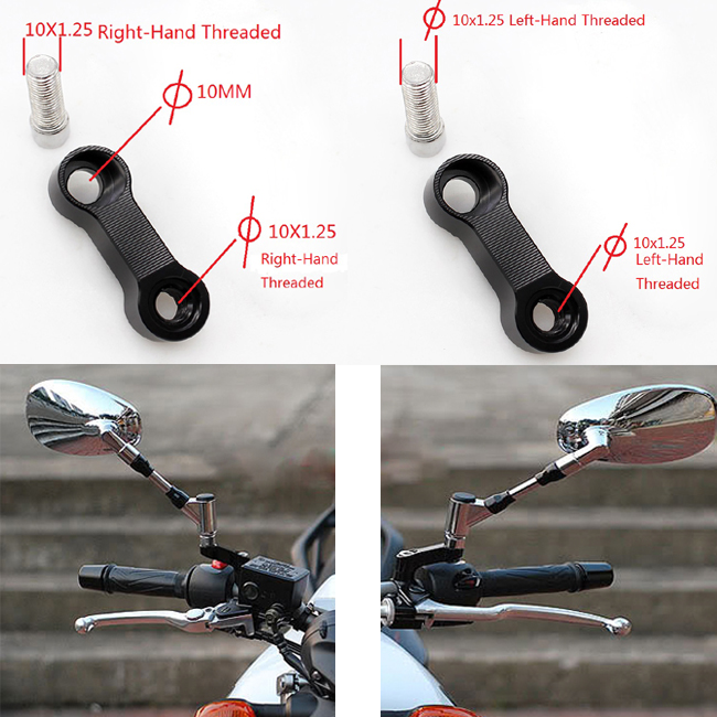 Factory promotional clamp on mirror motorcycle