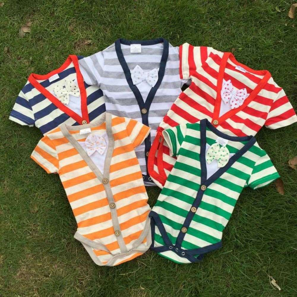 2015 new bubble stripe romper baby boys romper cotton baby romper 1.Size: 4-6M, 7-9M,10-12M,