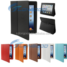 Durable and high quality PU leather tablet cover case with auto sleep awake function for ipad