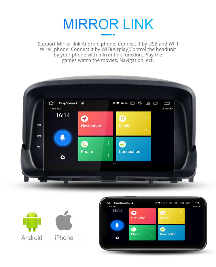 Android 9.0 system 2+16G 8 inch touch screen car multimedia audio player for OPEL MOKKA with WIFI Mirror link AUX SD SWC BT
