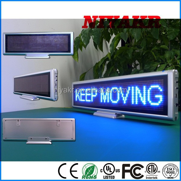 China Top ten Selling Products Dot Matrix Moudle 16x64 LED Digital Table Clock Display