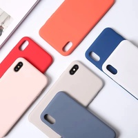 For iPhone X liquid silicone case with logo custom soft microfiber back cover for iPhone XS apple silicon case