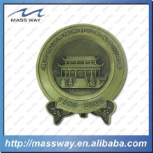 custom 3D metal engraved antique brass commemorative plates