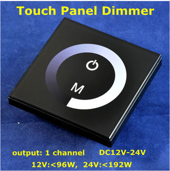 DC12V Wall Mounted Touch Panel LED Dimmer used for Single Color LED Strip Light