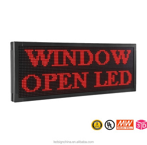 "PROGRAMMABLE LED SIGNS 77""x14"" 10MM SCROLLING MESSAGE DISPLAY RED COLOR"
